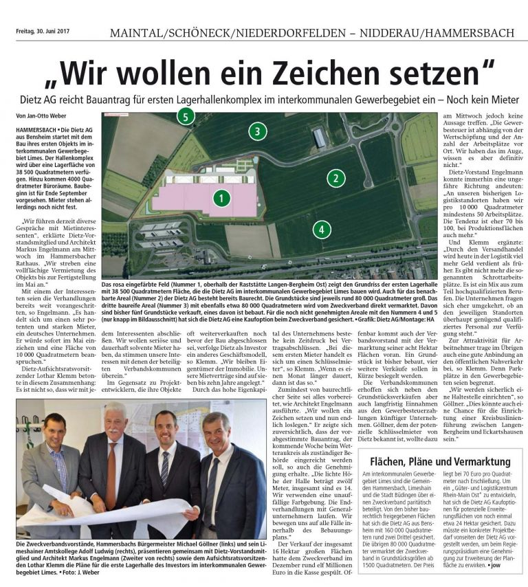 Dietz AG baut Halle