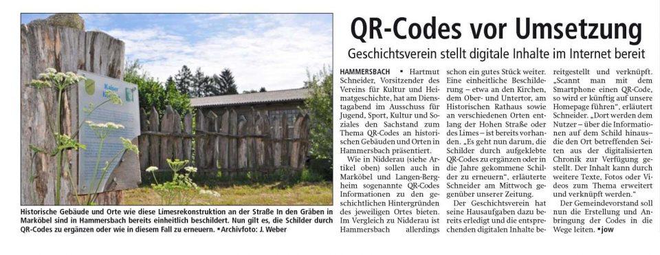 QR-Codes vor Umsetzung