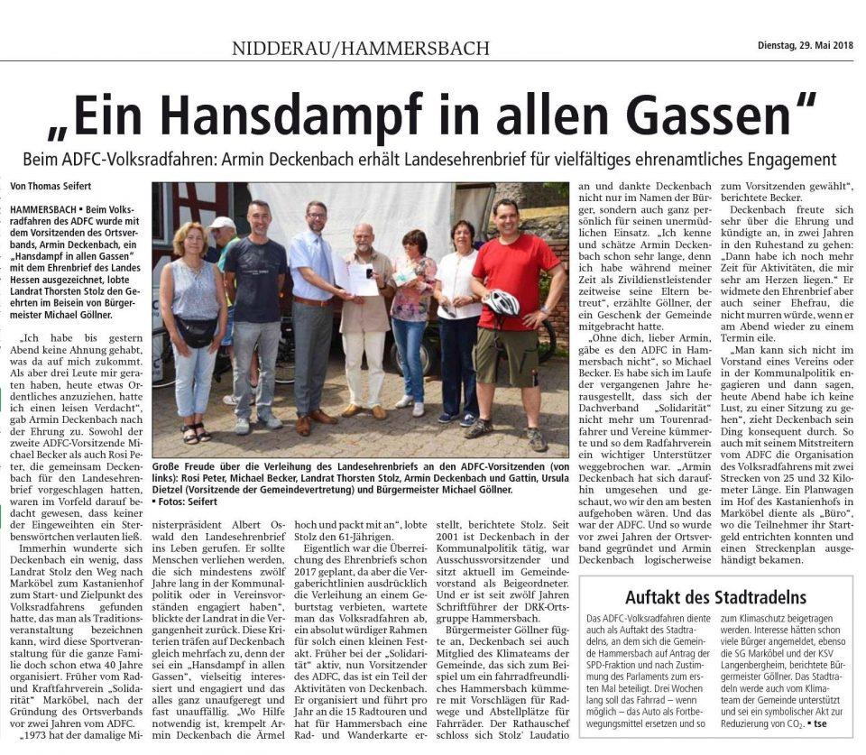 Landesehrenbrief für Deckenbach