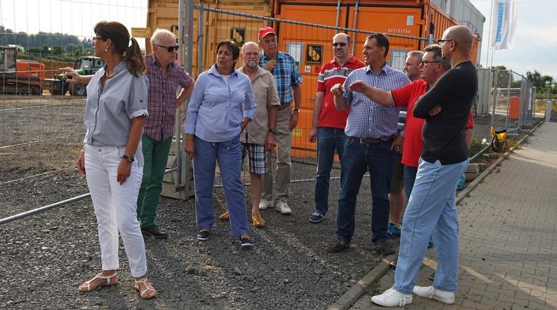 SPD im Gewerbegebiet Limes