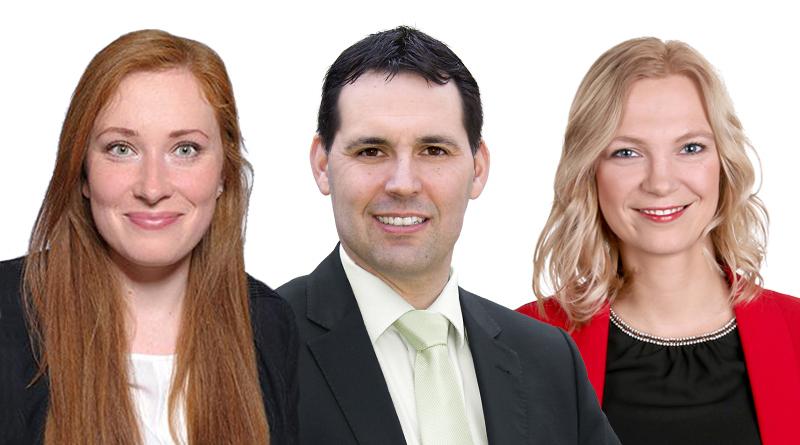 Drei für den Kreistag: Anastasia Rottstedt, Michael Göllner, Miriam Piljic